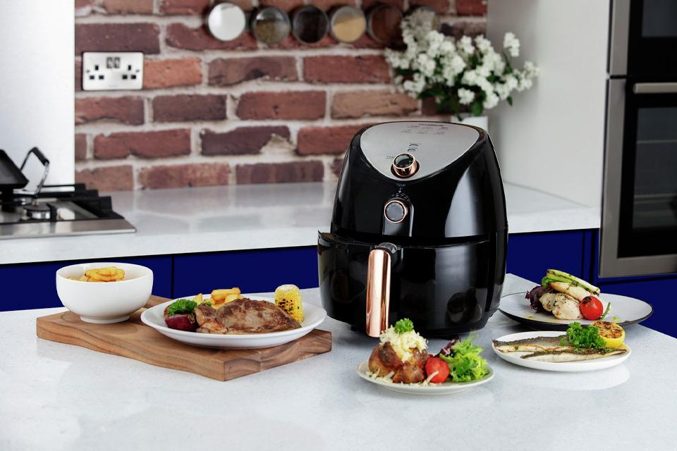 Tower Manual Air Fryer - Rose Gold.