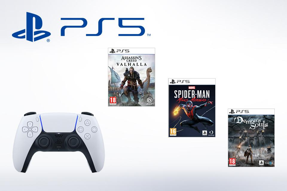 PS5 games and accessories.