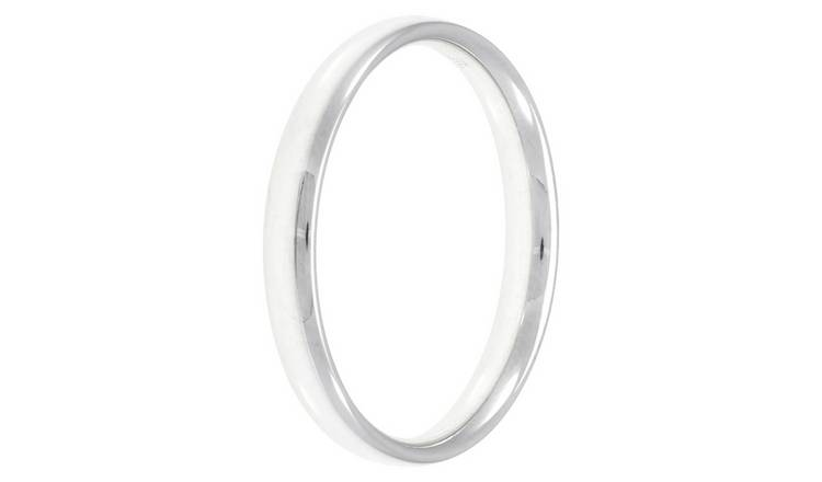 Revere Sterling Silver 3mm Wedding Band - O