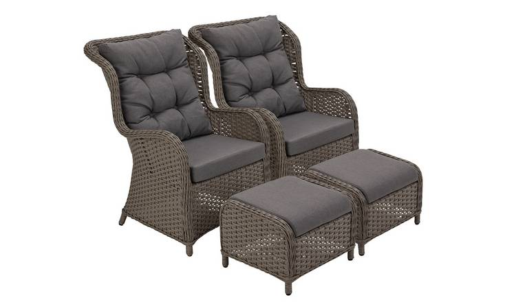 Buy Argos Home Dave 2 Seater Lounger Set With Side Table Garden Chairs And Sun Loungers Argos