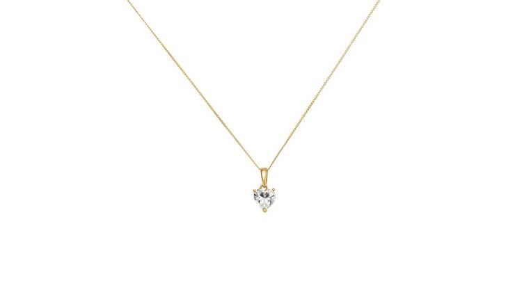 Revere 9ct Gold Heart Pendant Necklace  Pendant Necklace