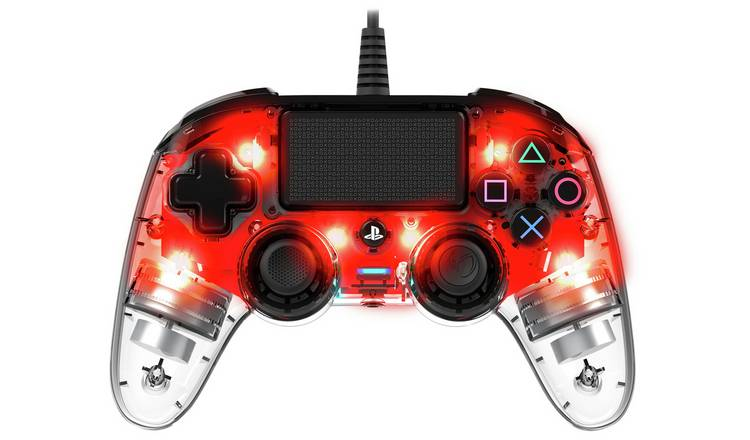 Nacon Compact PS4 Wired Controller - Clear Red