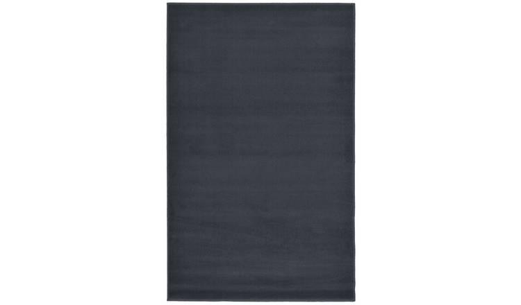Homemaker Adorn Plain Rug - 60x110cm - Charcoal