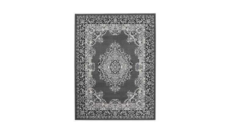 Homemaker Traditional Medallion Rug - 160x230cm - Grey