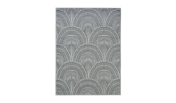 Homemaker Adorn Fan Rug - 80x150cm - Silver