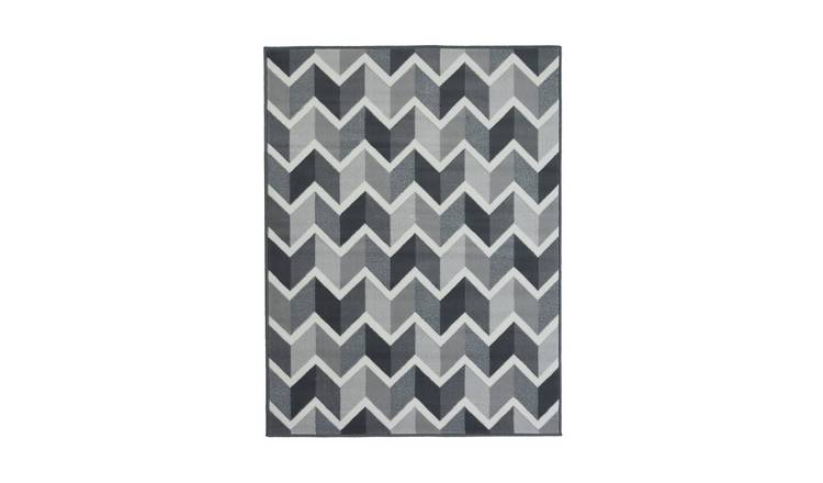 Homemaker Adorn Chevron Rug - 160x230cm - Grey