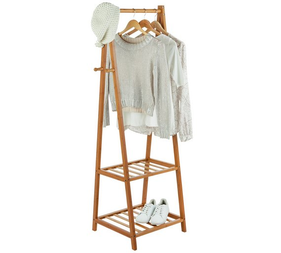 Buy collection belvoir bamboo clothes rail half size at - Bedroom furniture for hanging clothes ...
