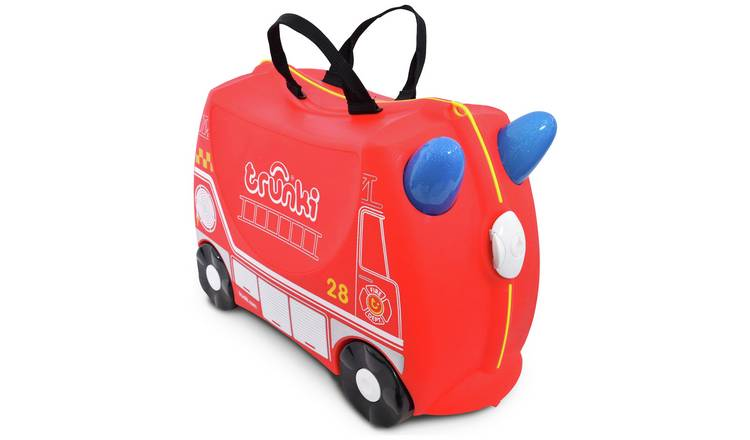 Trunki Frank Firetruck 4 Wheel Hard Ride On Suitcase - Red