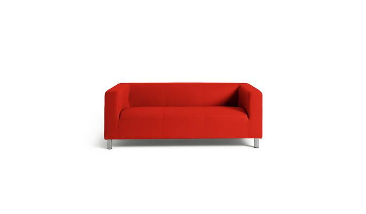 Buy Argos Home Moda 3 Seater Faux Leather Sofa - Red | Sofas | Argos
