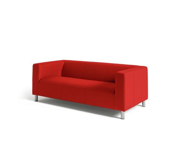 argos home moda 3 seater leather effect sofa www. Black Bedroom Furniture Sets. Home Design Ideas