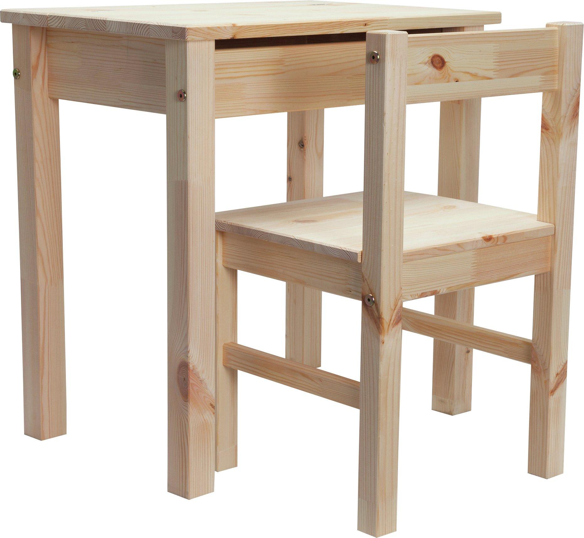 Buy HOME Kids Scandinavia Desk and Chair Pine at Argoscouk