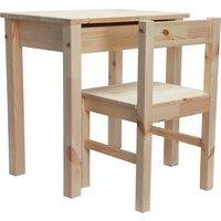 HOME - Kids Scandinavia Desk and Chair - Pine