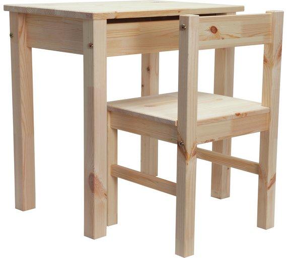 buy argos home kids scandinavia desk and chair pine null argos