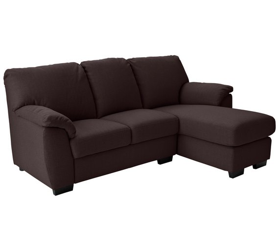 Buy collection milano fabric right chaise longue sofa for Argos chaise longue