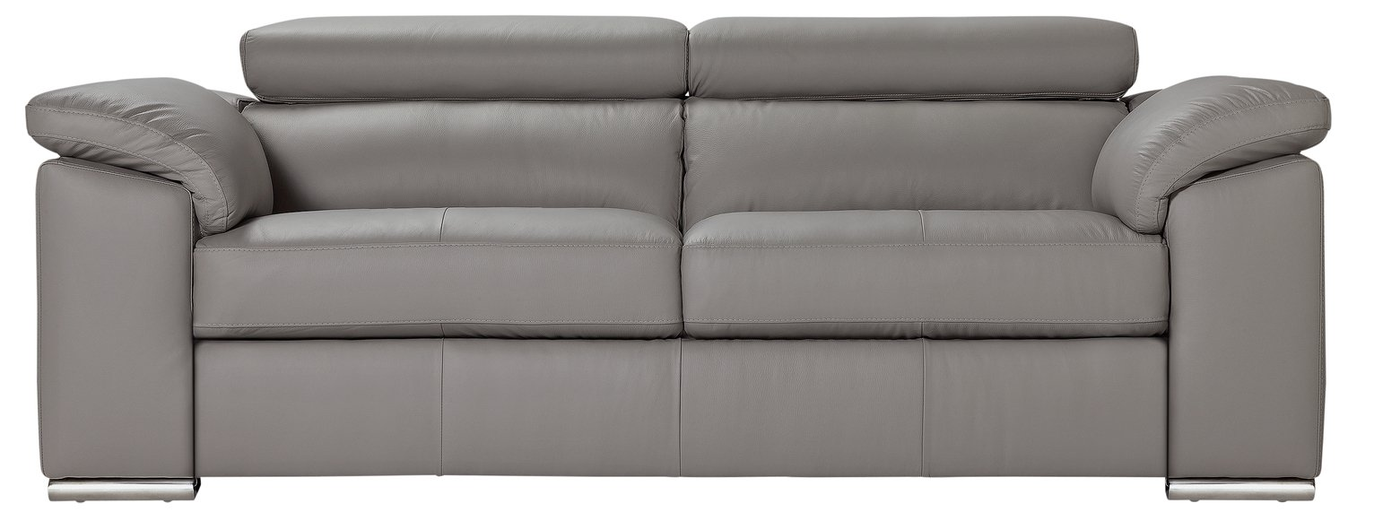 Beau Buy Argos Home Valencia 3 Seater Leather Sofa   Light Grey | Sofas | Argos