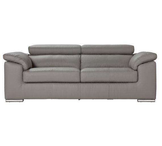 Buy Hygena Valencia 3 Seater Leather Sofa
