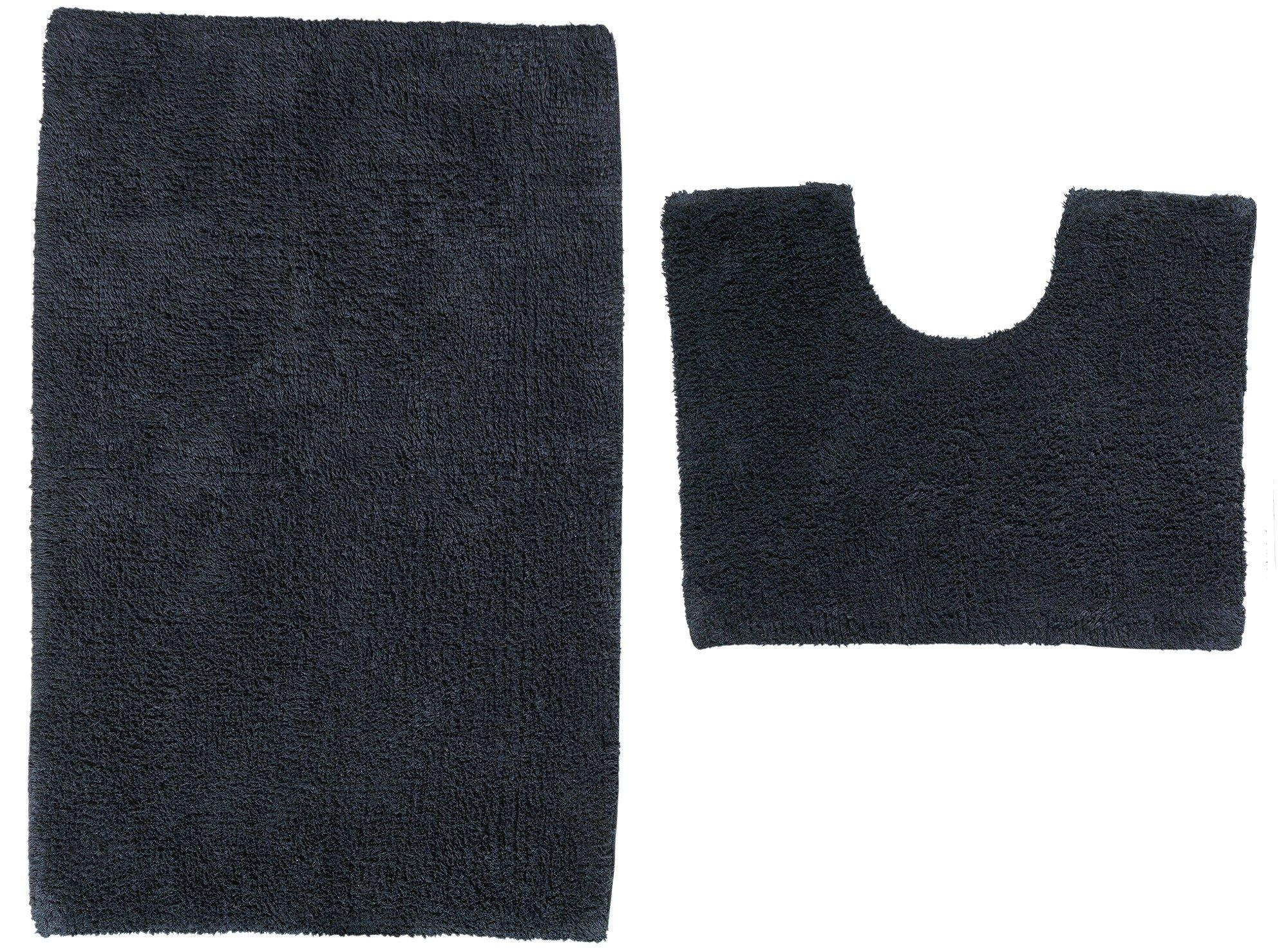 Argos Home Bath and Pedestal Mat Set - Black