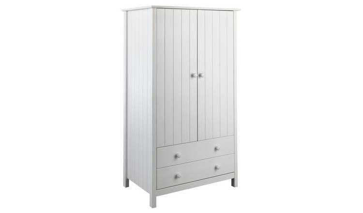 Argos Home Scandinavia 2 Door 2 Drawer Wardrobe - White