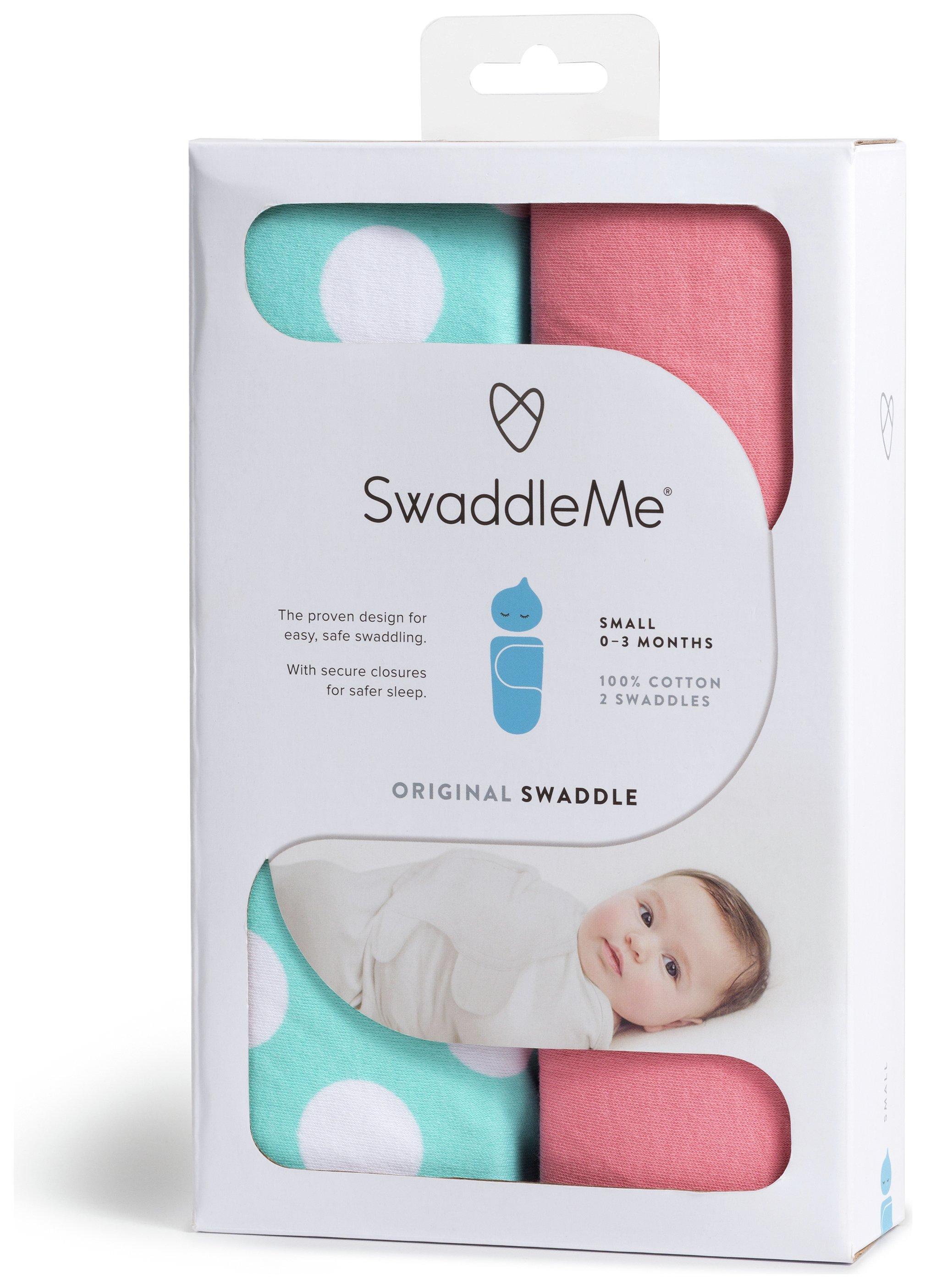 Image of Summer Infant - Swaddle Me Pink & Teal - 2 Pack