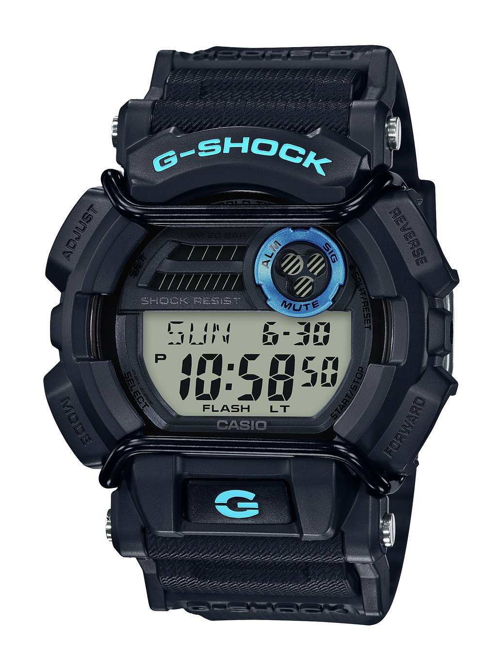 Casio G Shock Men's Multifunction Black Resin Strap Watch
