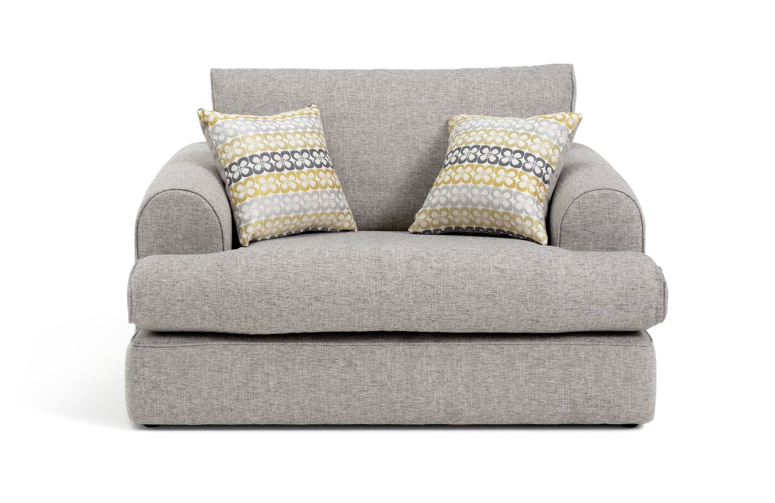 Argos Home Atticus Fabric Cuddle Chair - Grey