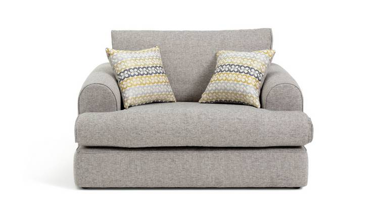 Argos Home Atticus Fabric Cuddle Chair - Grey