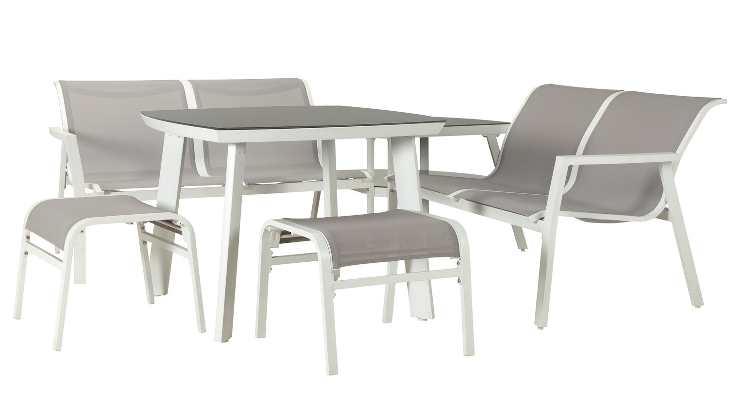 Argos Home Toulon 6 Seater Metal Corner Sofa Set