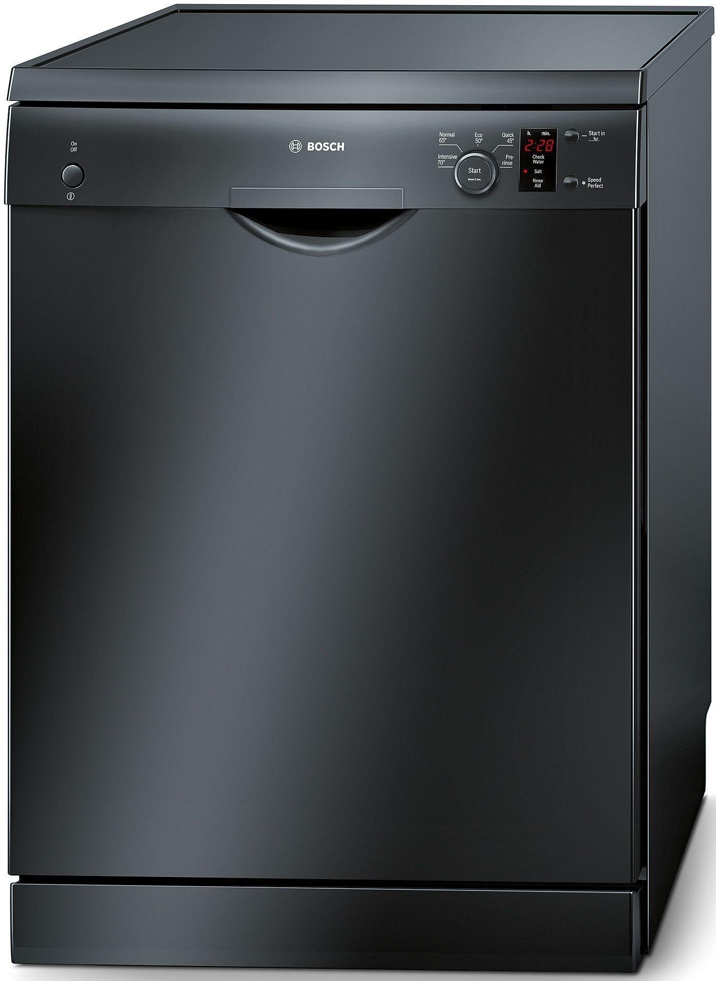 Image of Bosch SMS50T06GB Freestanding Full Size Dishwasher - Black.