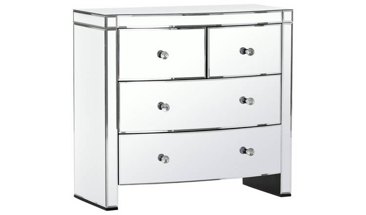 newest 15fc2 e01c8 Buy Argos Home Canzano 4 Drawer Mirrored Chest of Drawers   Chest of  drawers   Argos