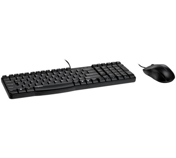 buy rapoo n1850 wired keyboard and mouse at your online shop for pc keyboards. Black Bedroom Furniture Sets. Home Design Ideas