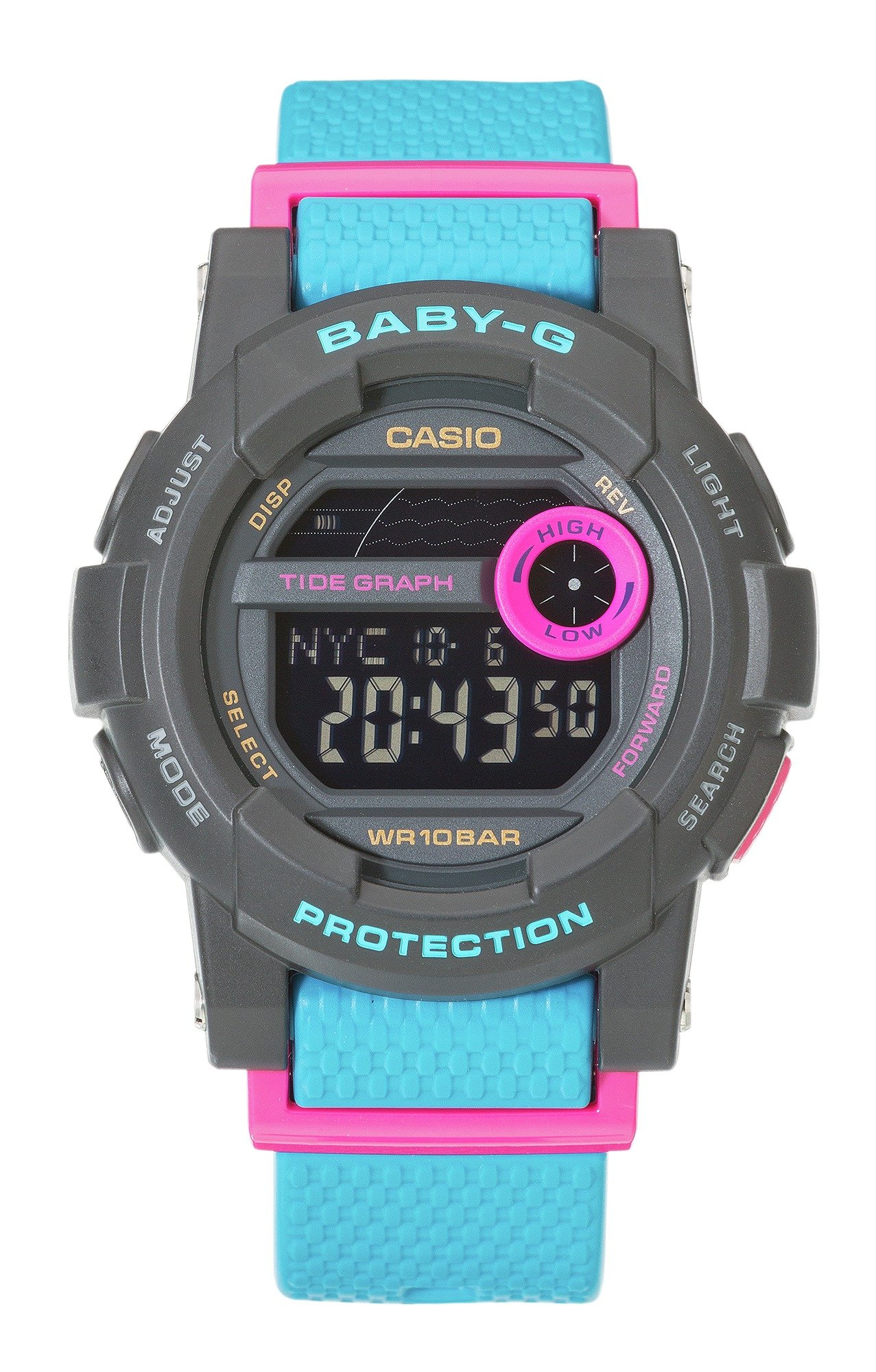 Image of Baby-G by Casio - Ladies G-Lide LCD Digital Strap - Watch