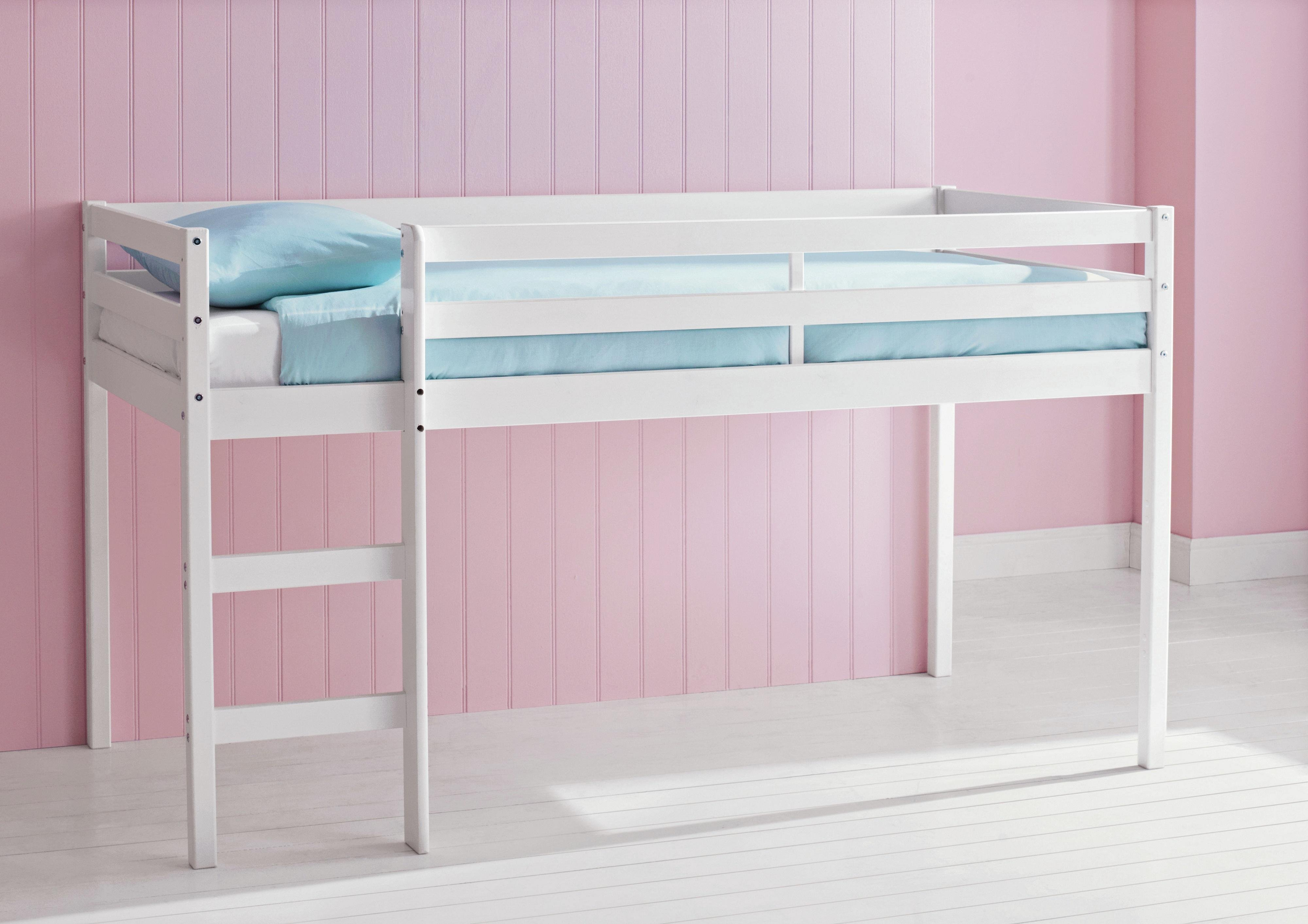 Argos Home Kaycie Shorty Mid Sleeper with Mattress - White