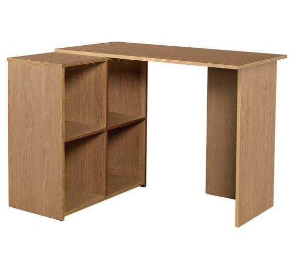 buy home calgary corner desk oak effect at. Black Bedroom Furniture Sets. Home Design Ideas