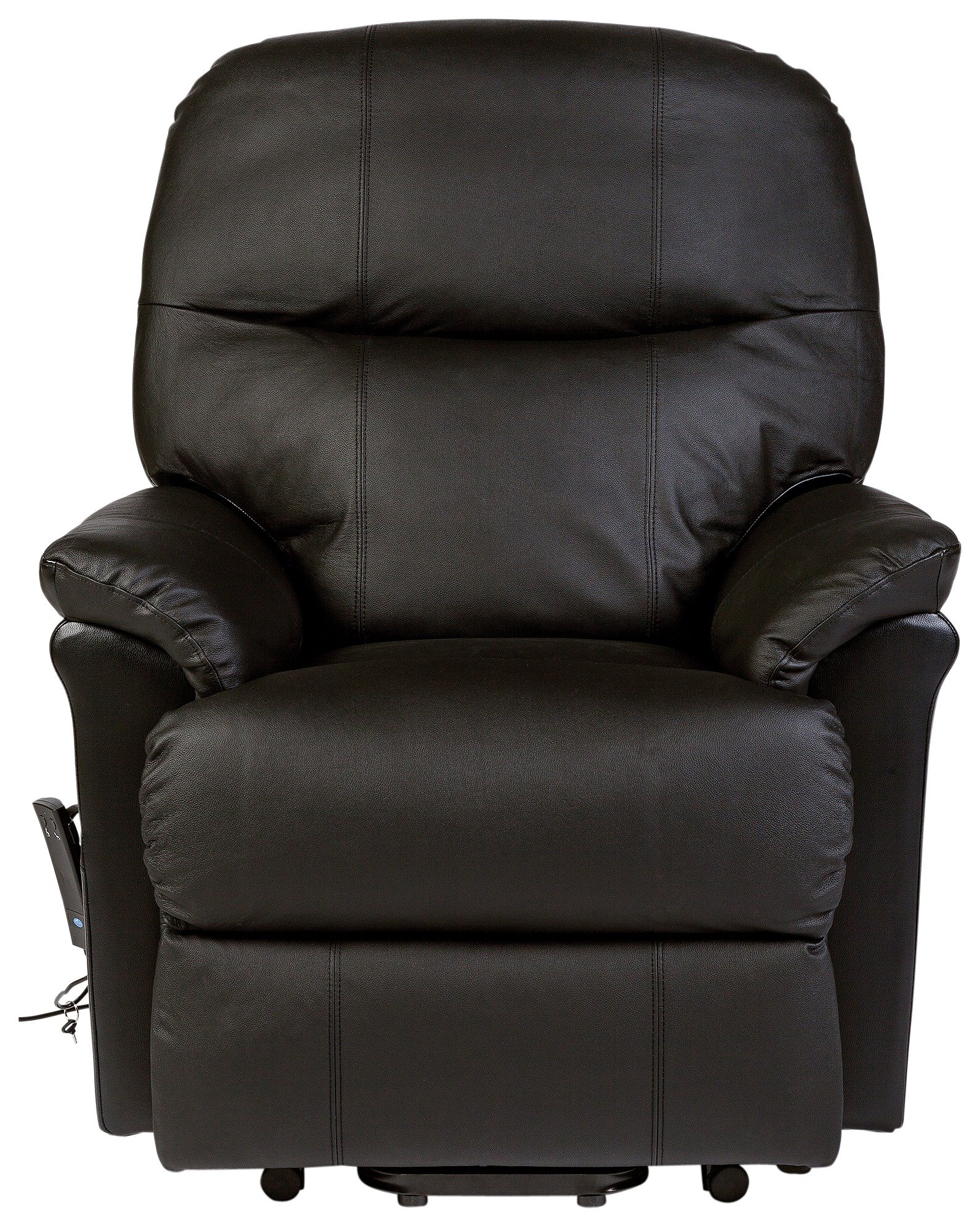 Lars Riser Recliner Single Motor Leather Chair -Dark Brown