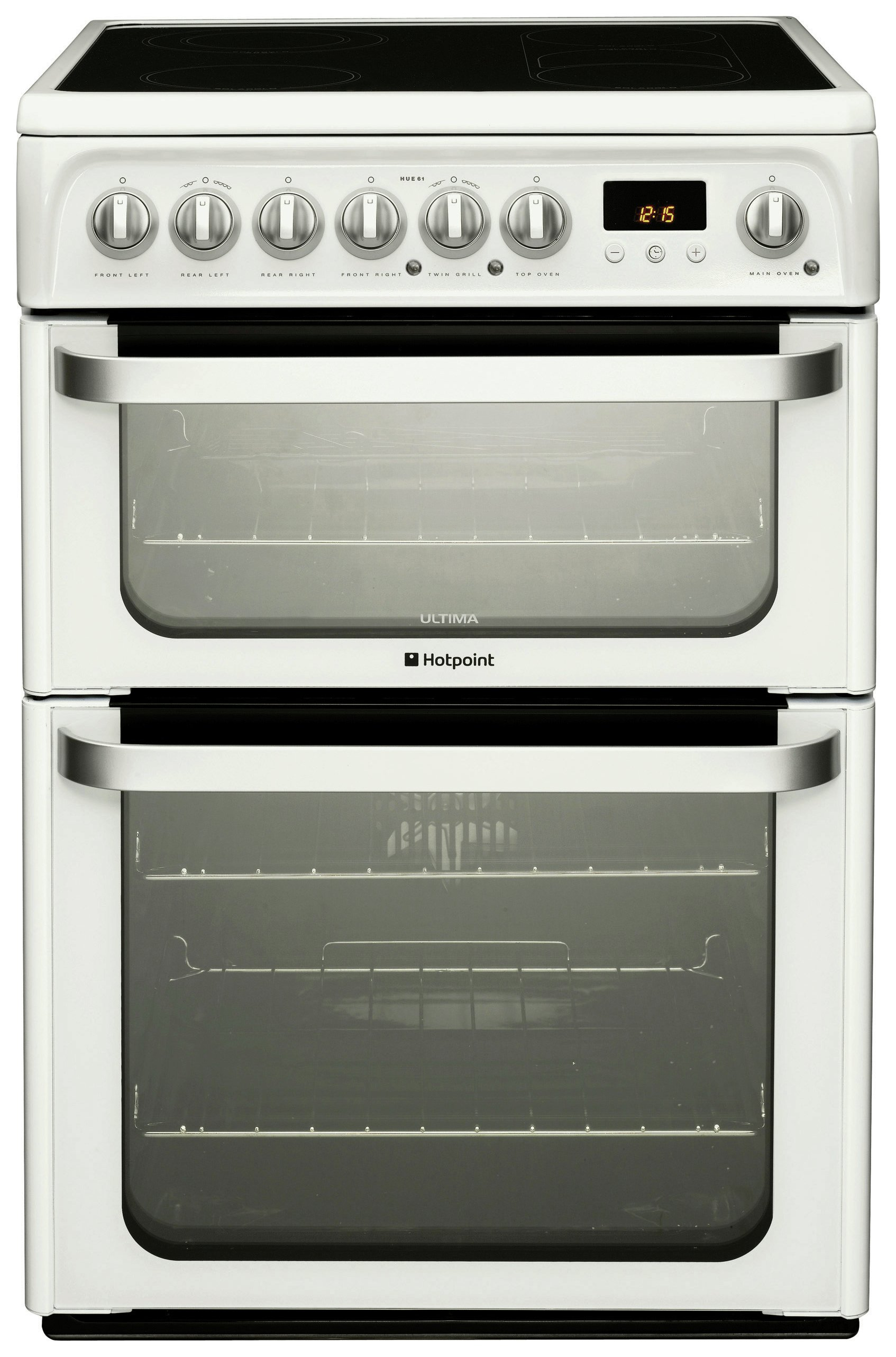 hotpoint hue61p electric cooker white at argos. Black Bedroom Furniture Sets. Home Design Ideas