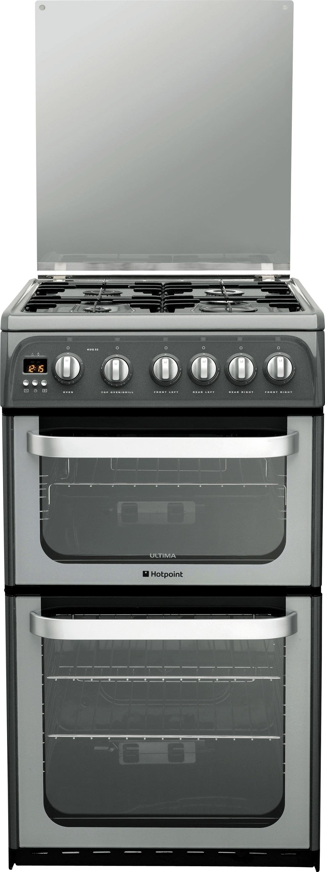 Hotpoint Ultima HUG52G Double Freestanding Gas Cooker