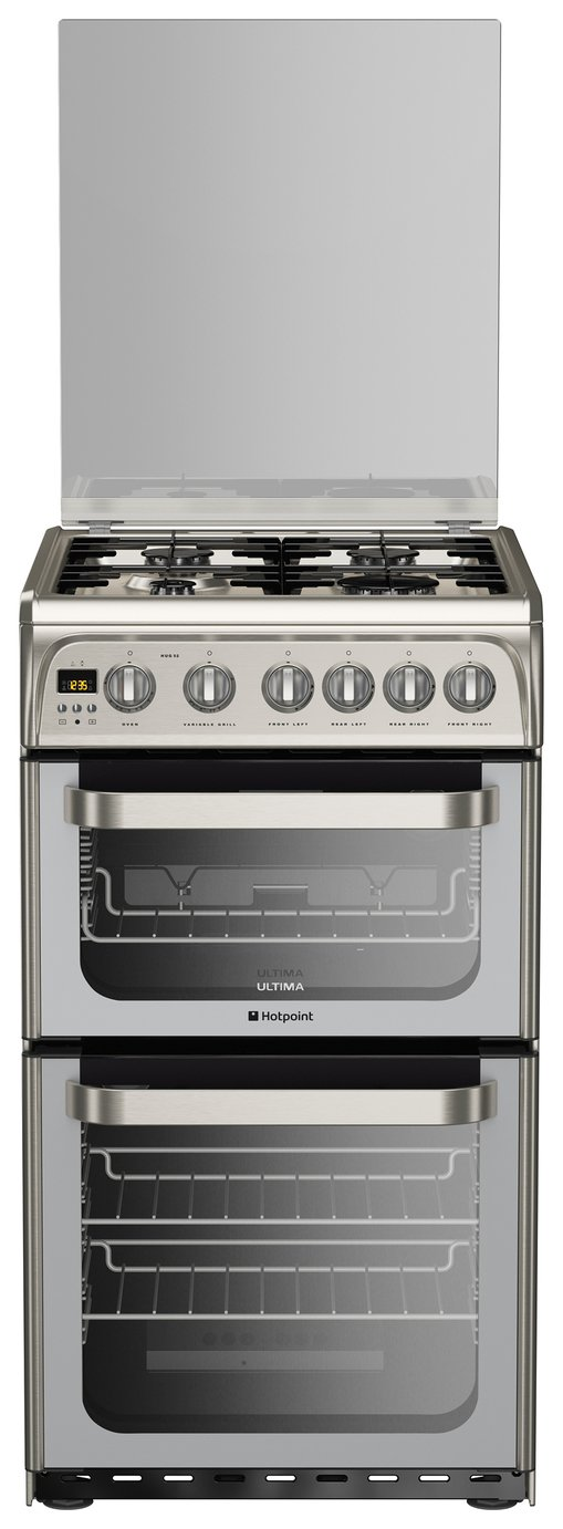 Hotpoint Ultima HUG52X Gas Cooker - Stainless Steel