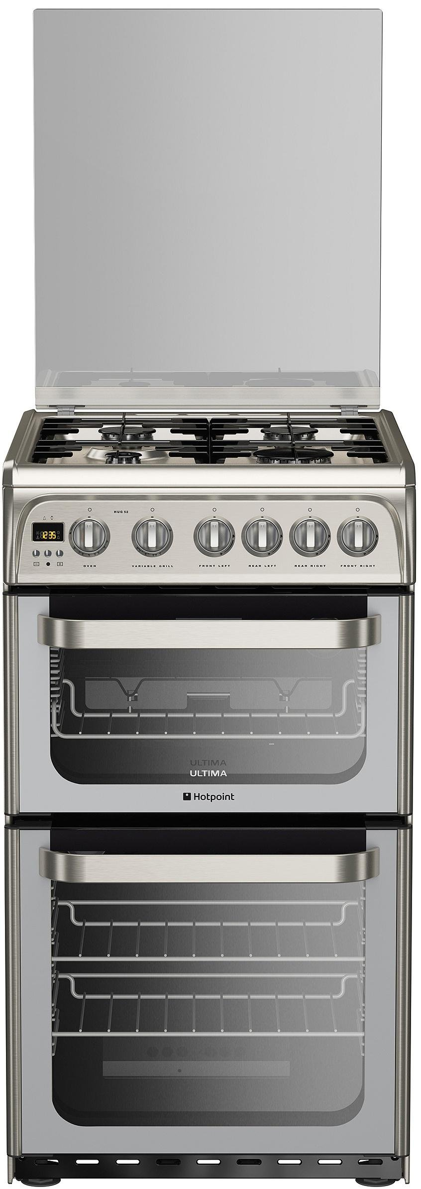 hotpoint ultima hug52x freestanding gas cooker s steel review. Black Bedroom Furniture Sets. Home Design Ideas