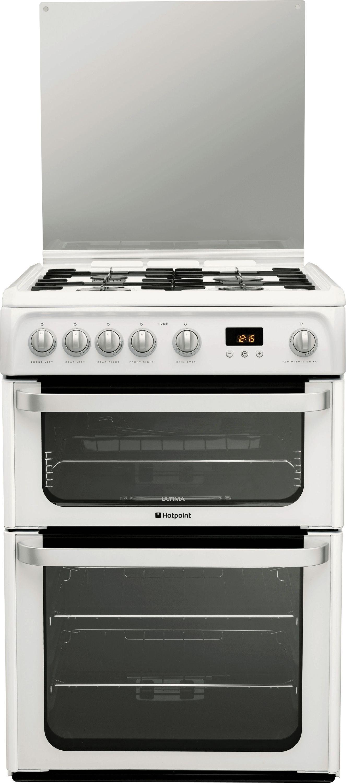 hotpoint hug61p gas cooker white instrec. Black Bedroom Furniture Sets. Home Design Ideas