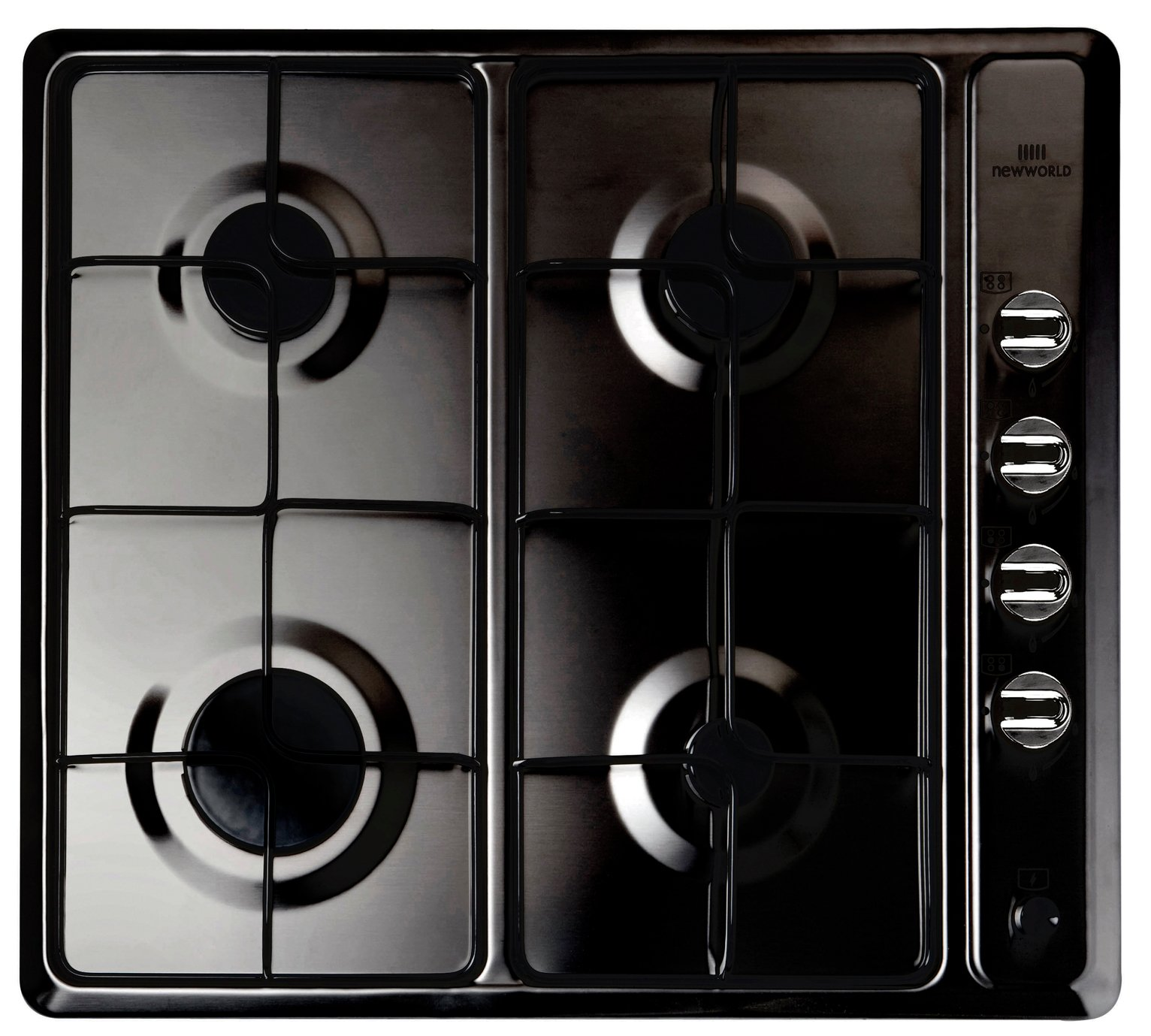 New World - NWGHU601 - Gas Hob - Black