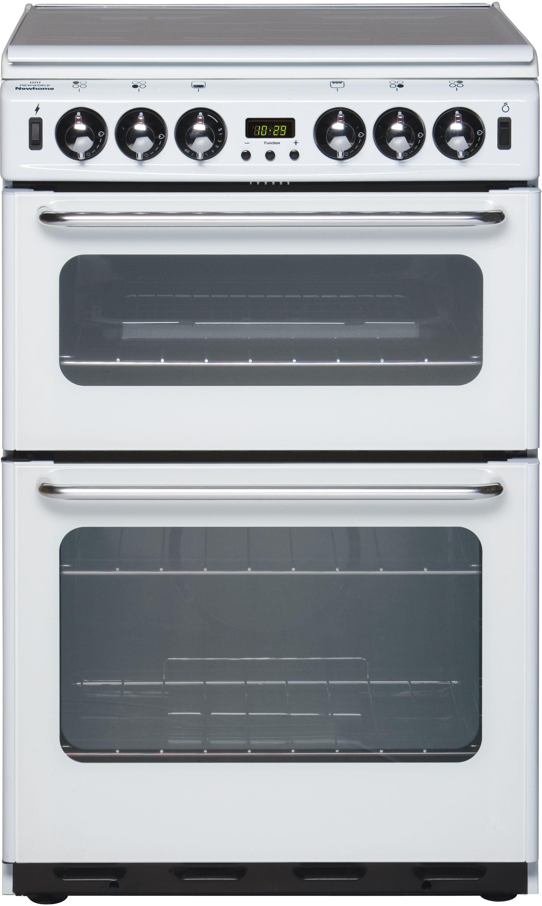 new world 550tsidomw double gas cooker white. Black Bedroom Furniture Sets. Home Design Ideas