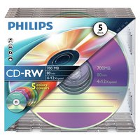 Philips - CD-RW Pack of 5 on a Spindle