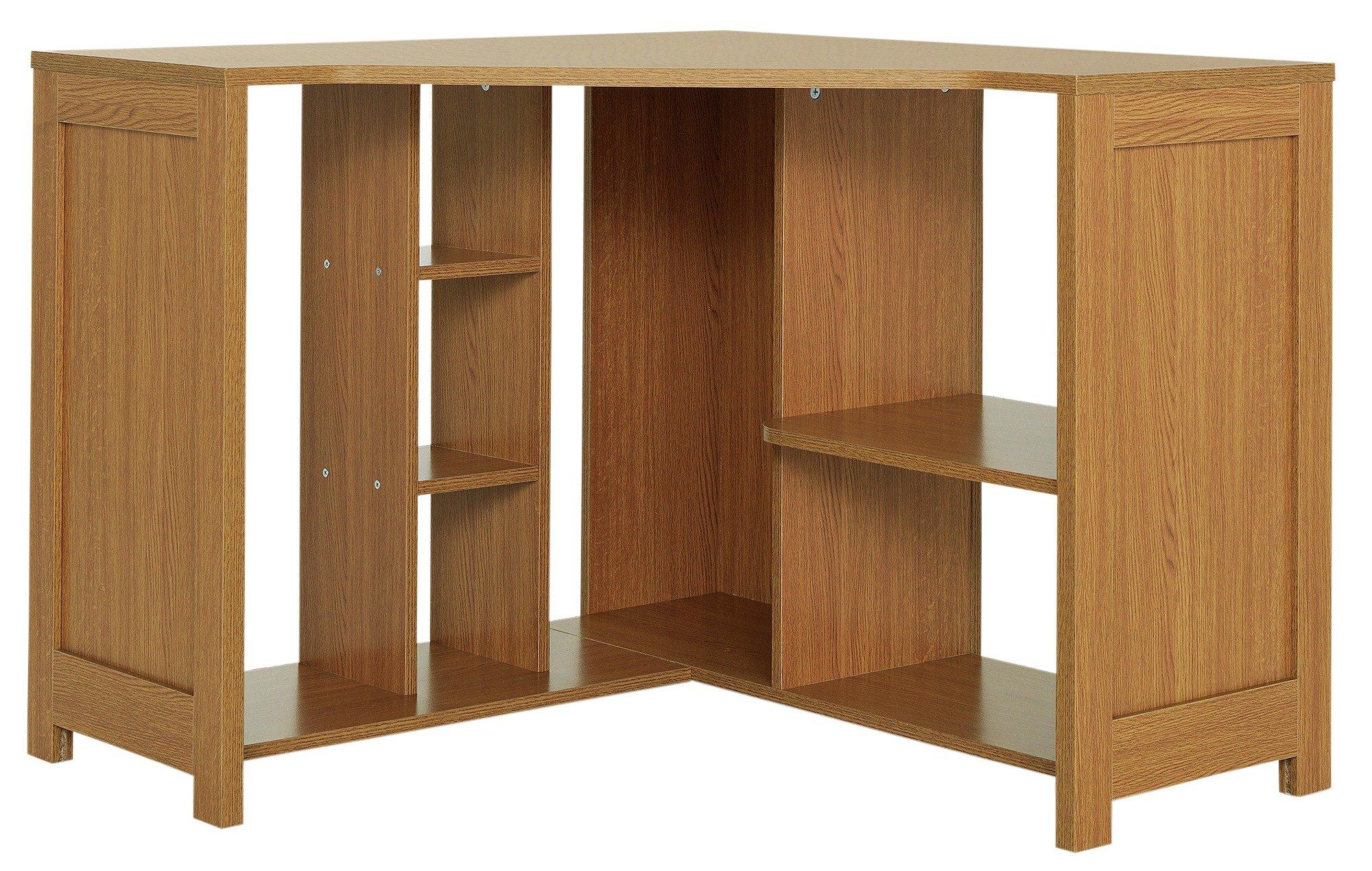 sale on home conrad corner desk oak effect home by. Black Bedroom Furniture Sets. Home Design Ideas