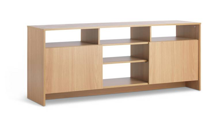 Habitat Turin 2 Door Extra Large TV Unit - Oak Effect