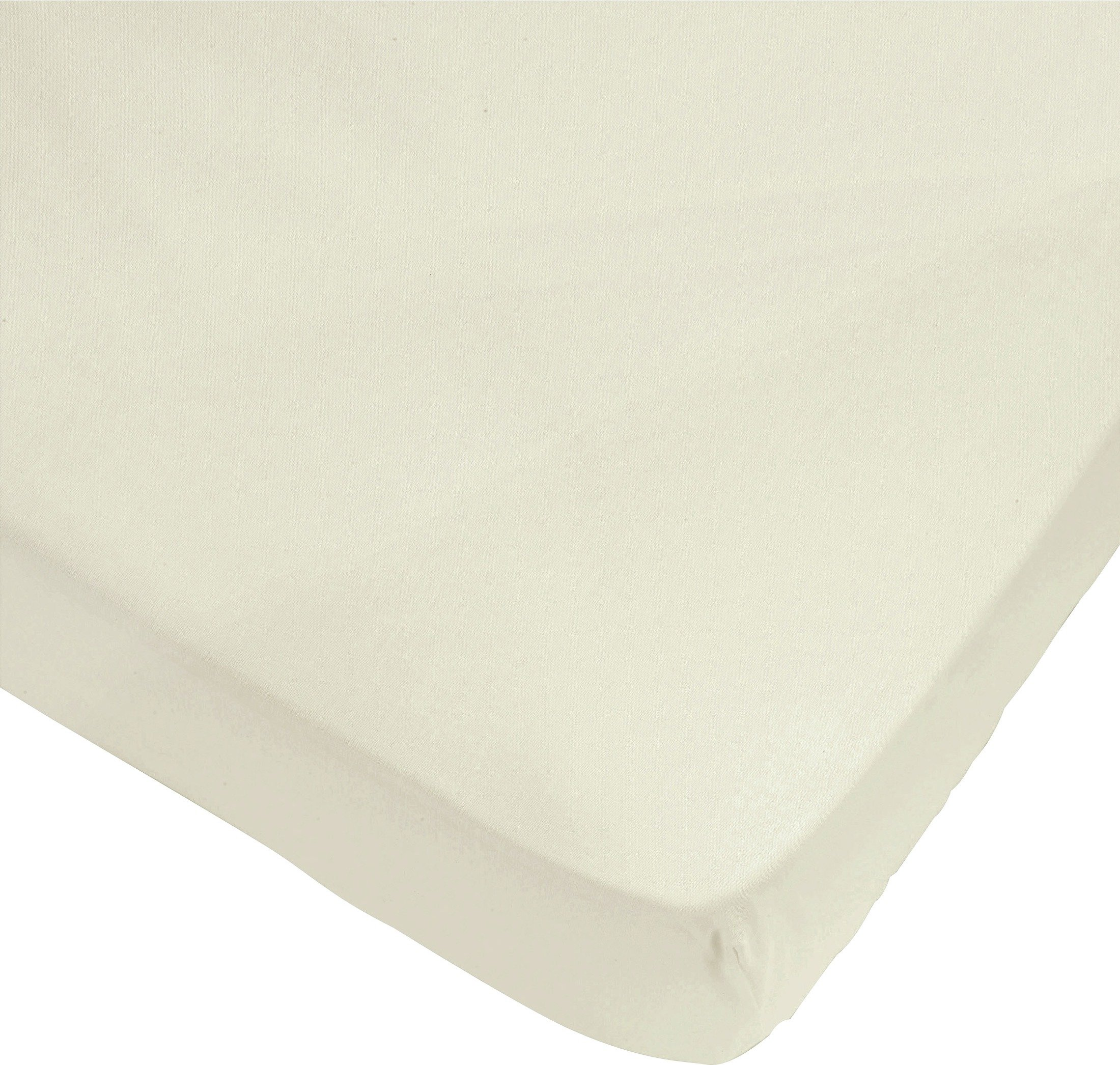 ColourMatch - Cotton Cream Fitted - Sheet - Double