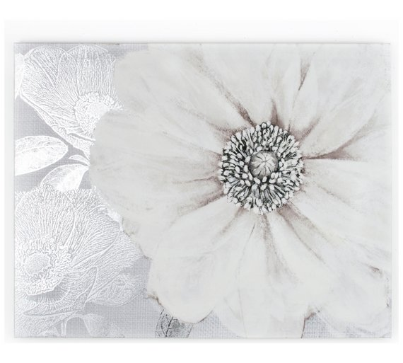 buy graham brown grey bloom canvas pictures and wall art argos