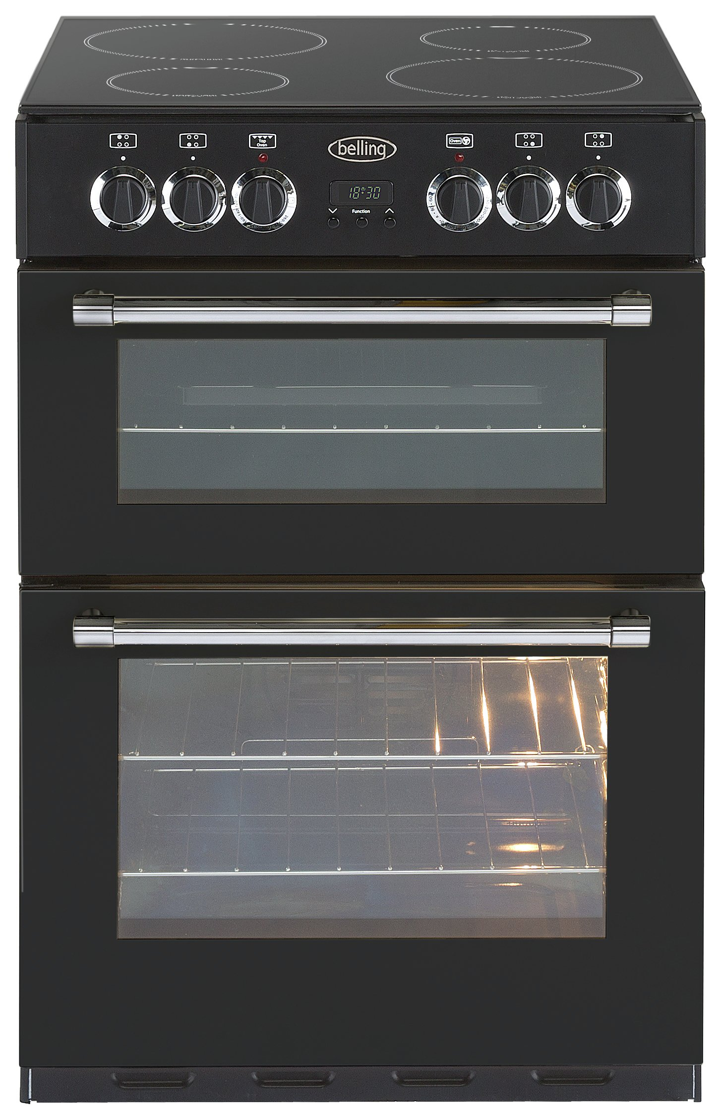 Image of Belling - Classic 60E Double - Electric Cooker - Black