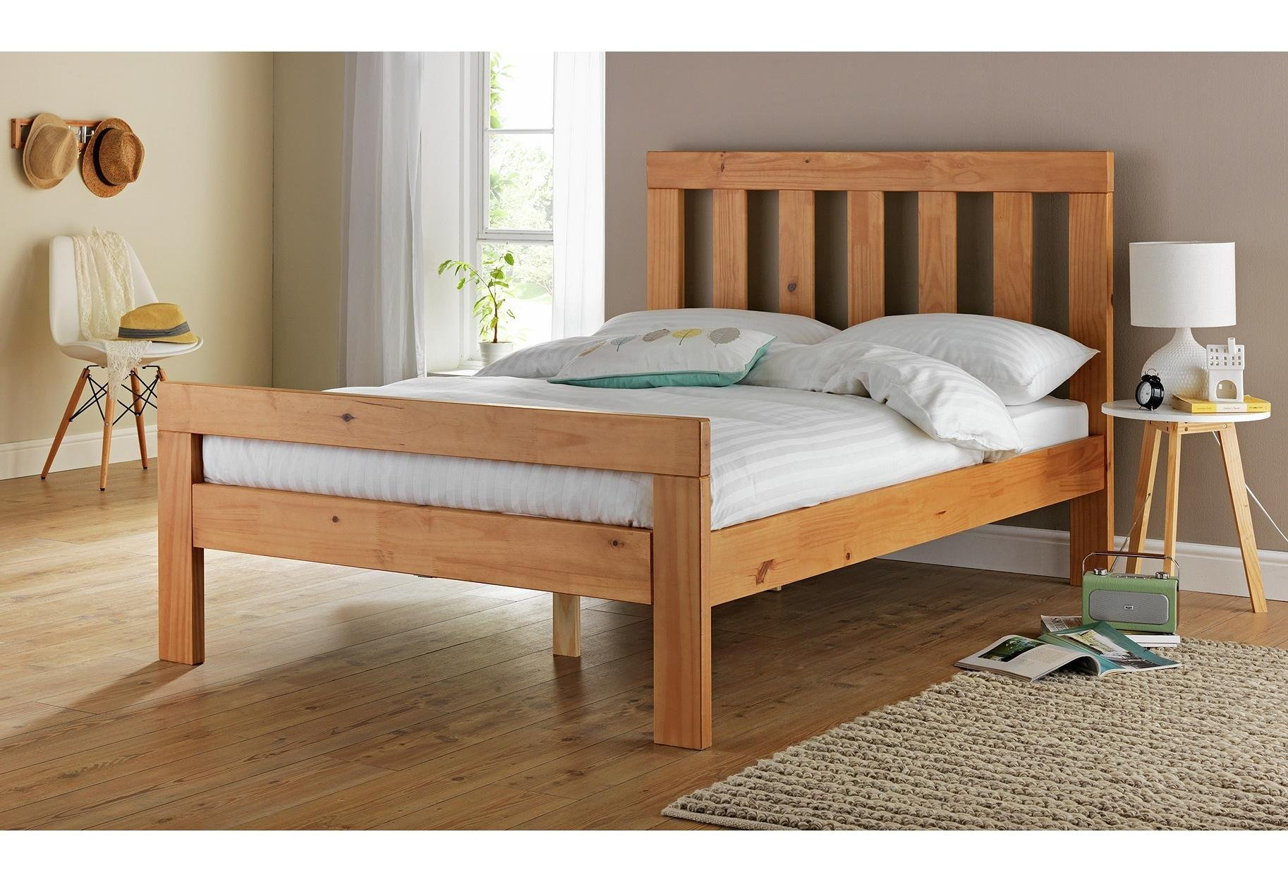 Buy Collection Chile Small Double Bed Frame Oak Stain at Argos