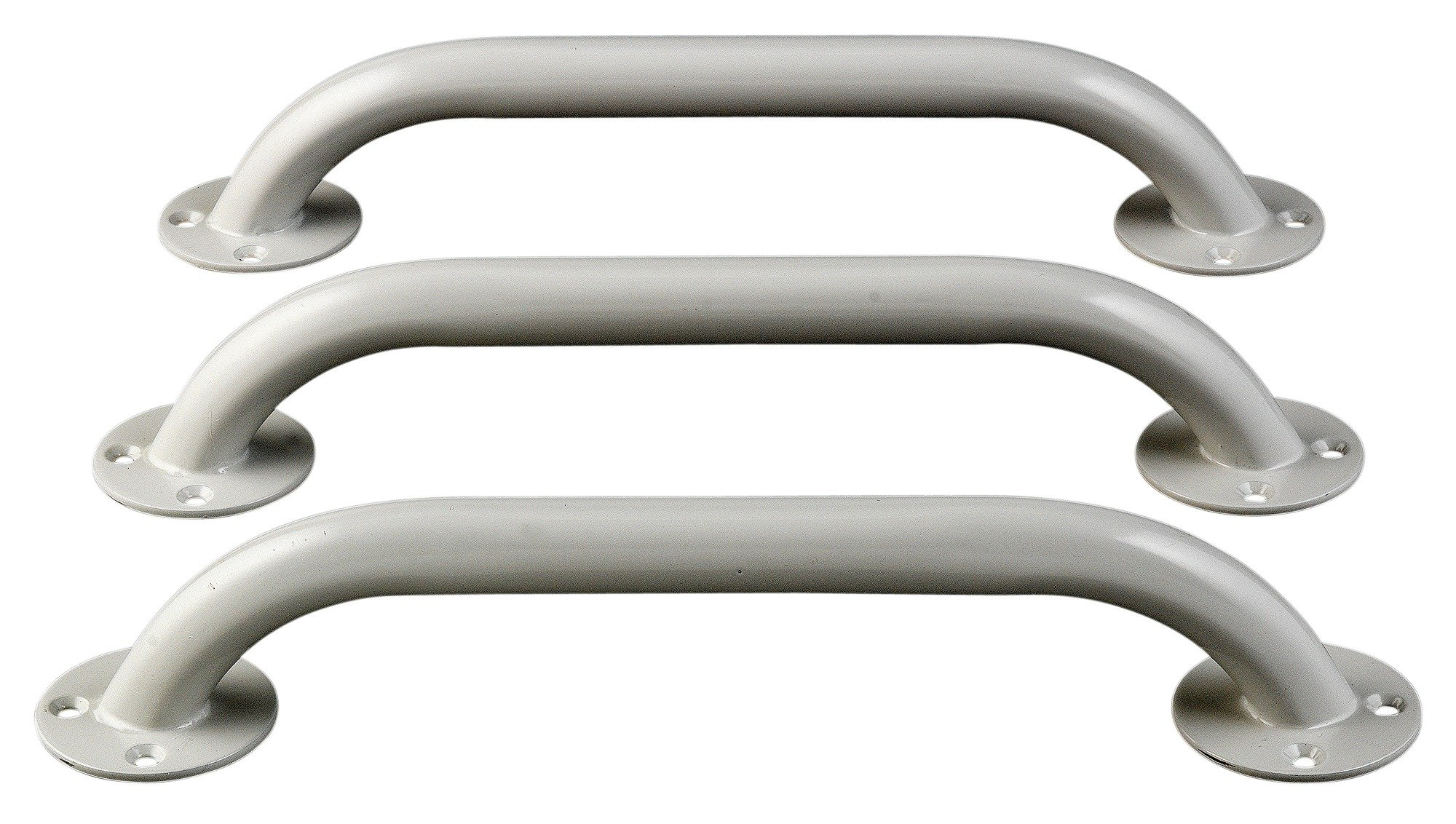 Argos - White Grab Bars - Pack of 3