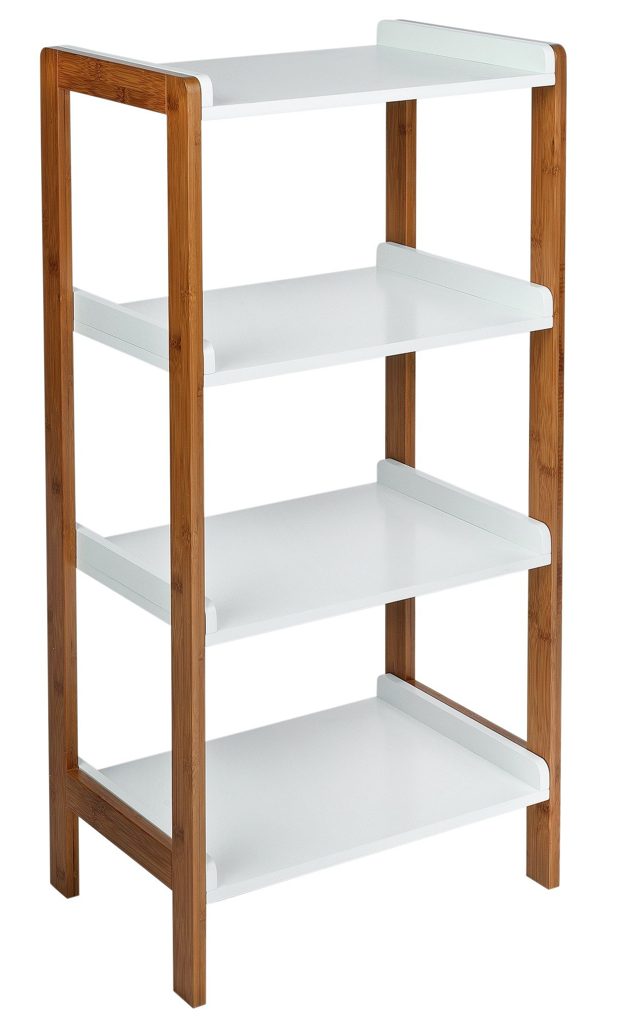 Image of Collection 4 Tier Bamboo Shelf Unit - Two Tone